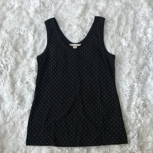 Black and gold tank